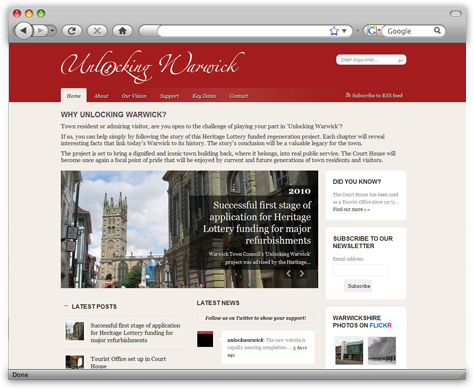 Unlocking Warwick wordpress CMS website