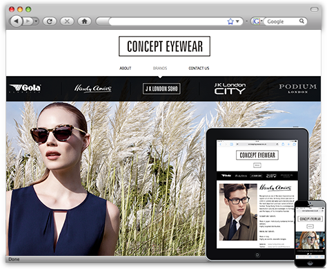 Concept Eyewear WordPress Website
