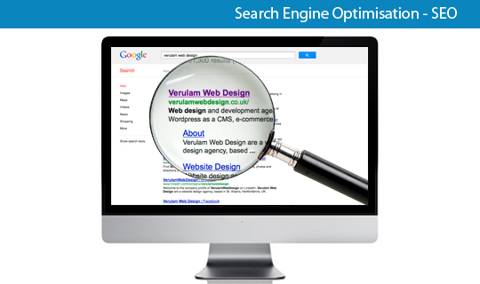 search engine optimisation E-Commerce services offered by st albans agency verulam web design
