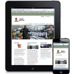 Responsive Design on ipad and iphone